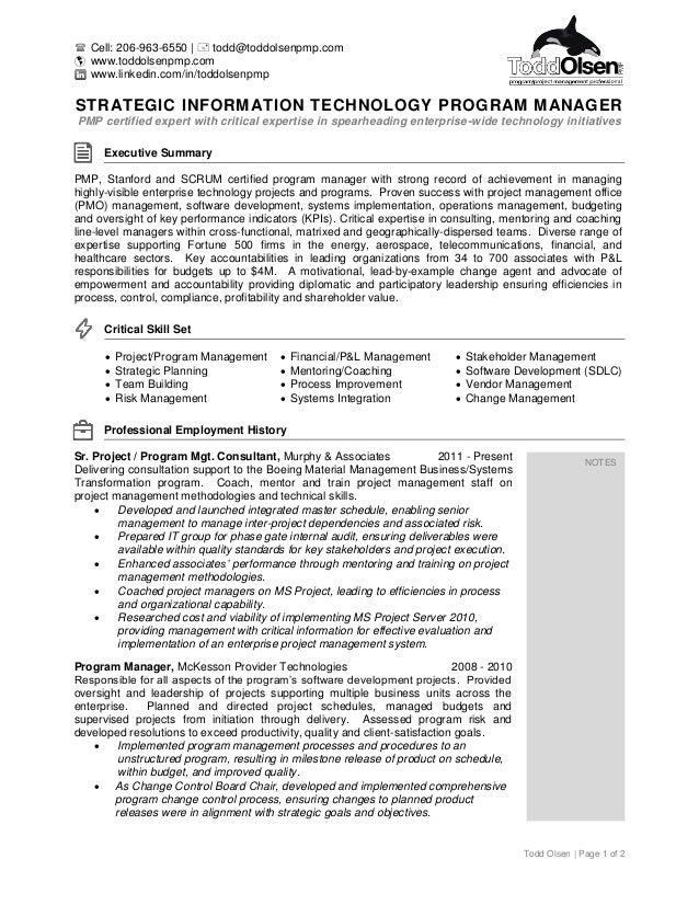 resume of todd olsen - Scrum Master Resume