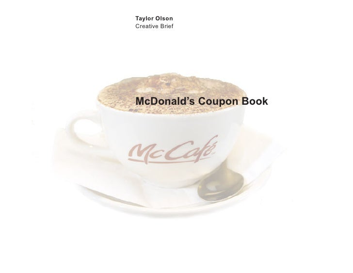 Taylor Olson Creative Brief     McDonald's Coupon Book