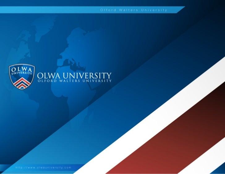OLWA University – Choose the Future you Desire