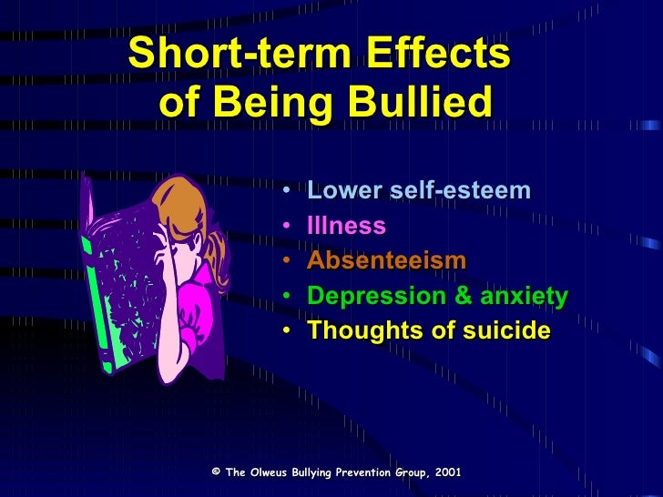effects regarding staying bullied essay