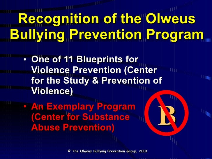 Olweus bully prevention master prevention group 2001 69 66 malvernweather Choice Image