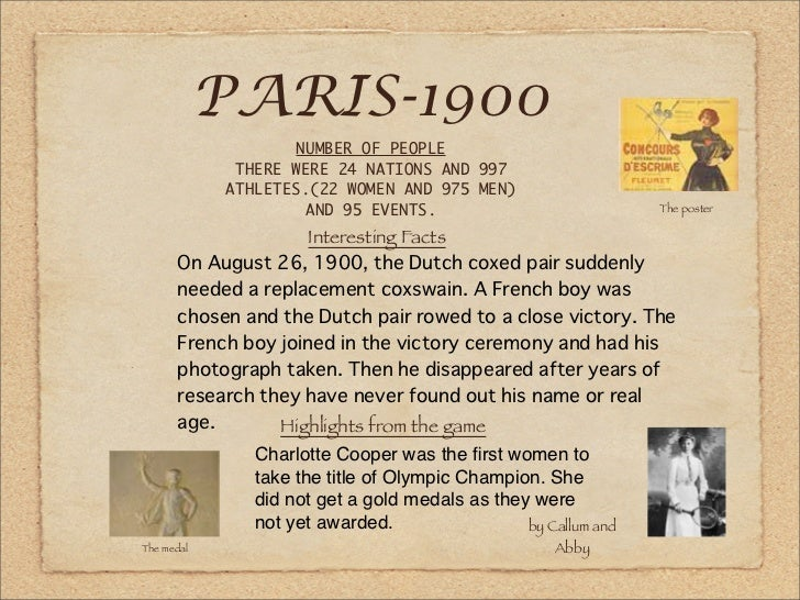 PARIS-1900                                                               The poster                     Interesting Facts ...