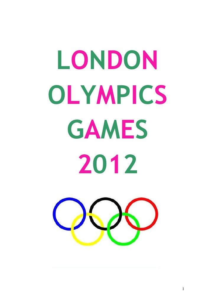 LONDONOLYMPICS GAMES  2012           1