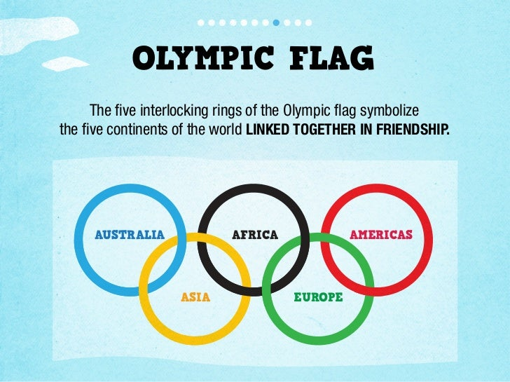 Olympic Flag The five Interlocking