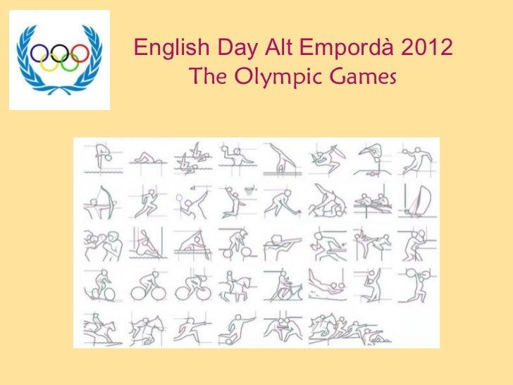 English Day Alt Empordà 2012 The Olympic Games