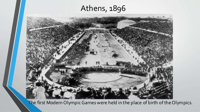 Where were the original Olympic games held?