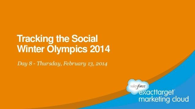 Tracking the Social Winter Olympics 2014 Day 8 - Thursday, February 13, 2014