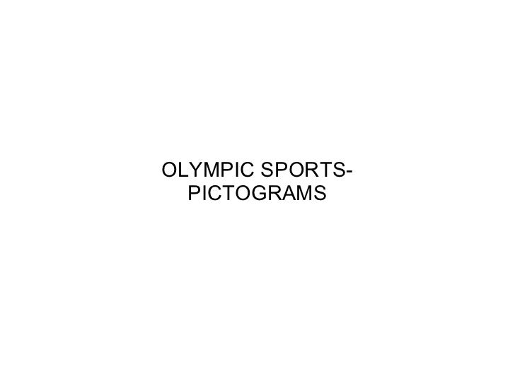 OLYMPIC SPORTS-  PICTOGRAMS