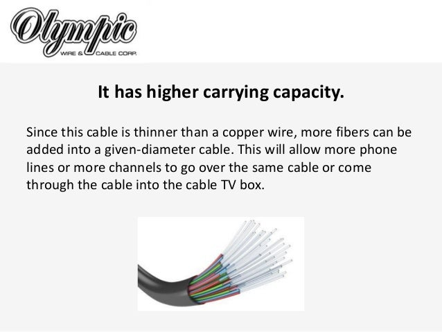 Olympicwire.com advantages of fiber optic cable over copper wire cable