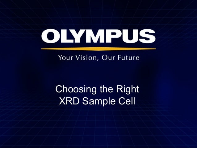 Choosing the Right XRD Sample Cell