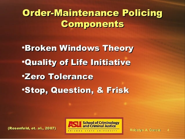 broken window theory police discretion Compstat and capstat are two statistical programs that have been helping to process the computer records of the police discretion as well as the broken-window.
