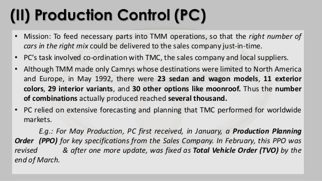 operations management toyota To accomplish this, lean thinking changes the focus of management from optimizing separate technologies many organizations choose not to use the word lean, but to label what they do as their own system, such as the toyota production system or the danaher business system.