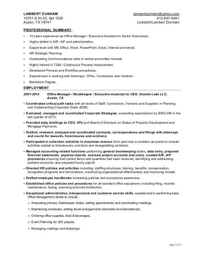 sr administrative assistant resumes