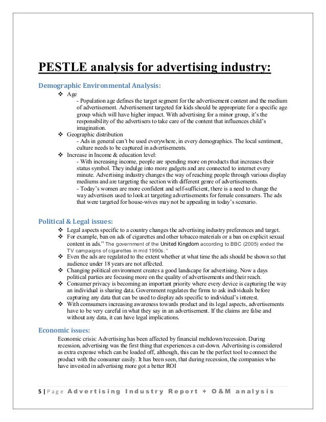 Advertising Industry Analysis  Ogilvy And Mather Report