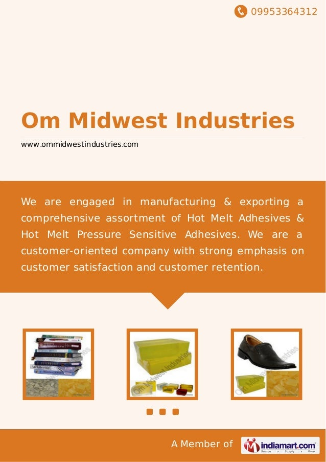 09953364312 A Member of Om Midwest Industries www.ommidwestindustries.com We are engaged in manufacturing & exporting a co...