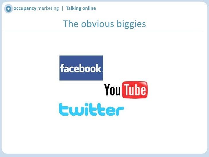 occupancy marketing  |  Talking online<br />Choosing your network<br />
