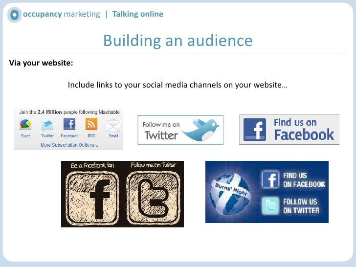 Building an audience<br />