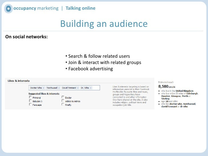 Incentivise people to join(e.g. Competitions, exclusive offers, etc.)</li></li></ul><li>occupancy marketing  |  Talking o...