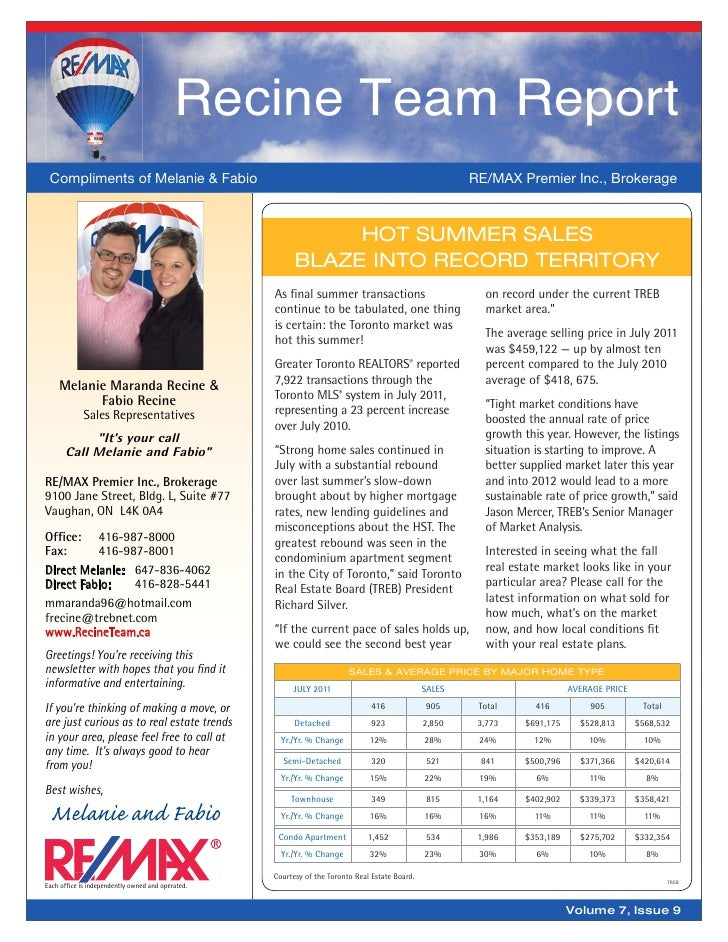 Recine Team Report Compliments of Melanie & Fabio                                                                         ...