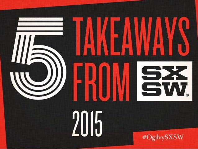 Takeaways from 2015 5