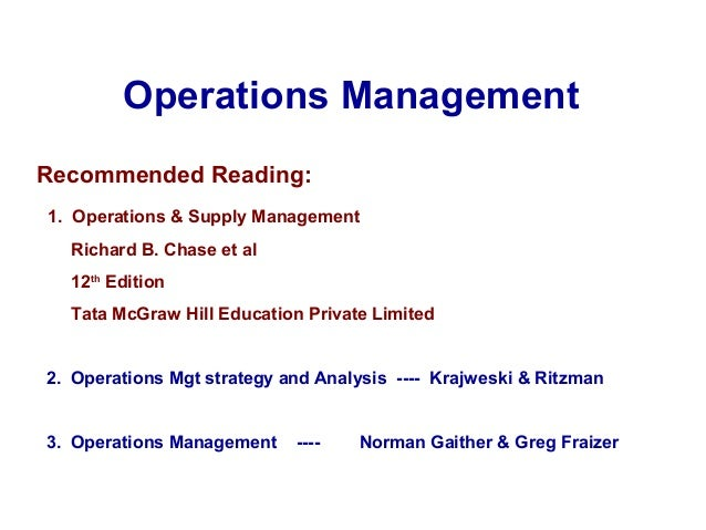 operations management 9th edition solution manual