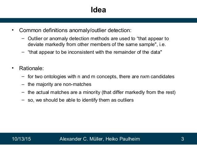 Combining Ontology Matchers via Anomaly Detection Slide 3