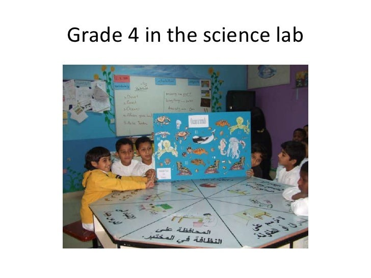 Grade 4 in the science lab
