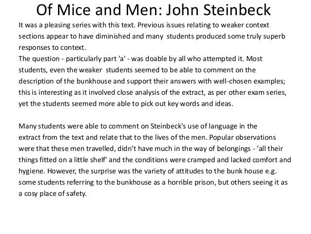 the relationship between characters in the of mice and men by john steinbeck