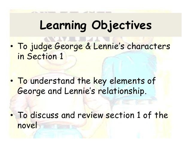 relationship george and lennie essay Read this essay on relationship between george and lennie come browse our large digital warehouse of free sample essays get the knowledge you need in order to pass.