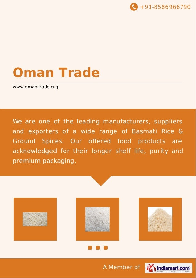 +91-8586966790 A Member of Oman Trade www.omantrade.org We are one of the leading manufacturers, suppliers and exporters o...