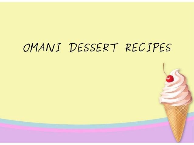OMANI DESSERT RECIPES