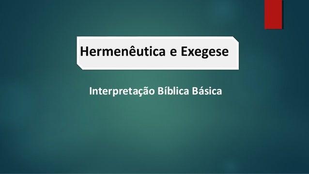 Interpretação Bíblica Básica