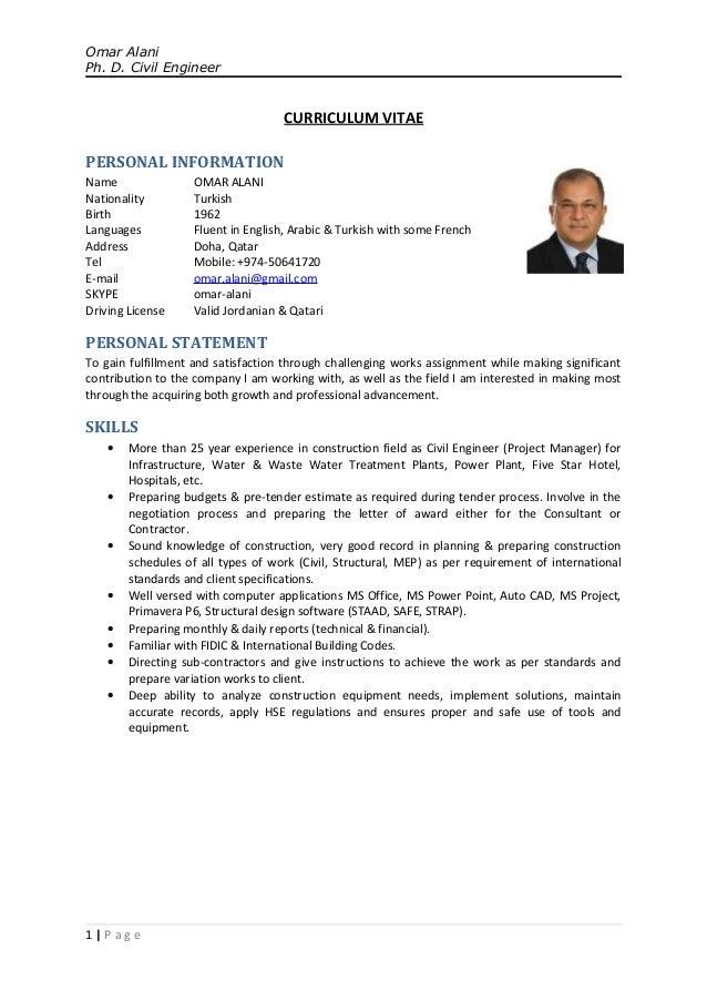 civil engineering cv sample doc - Muck.greenidesign.co