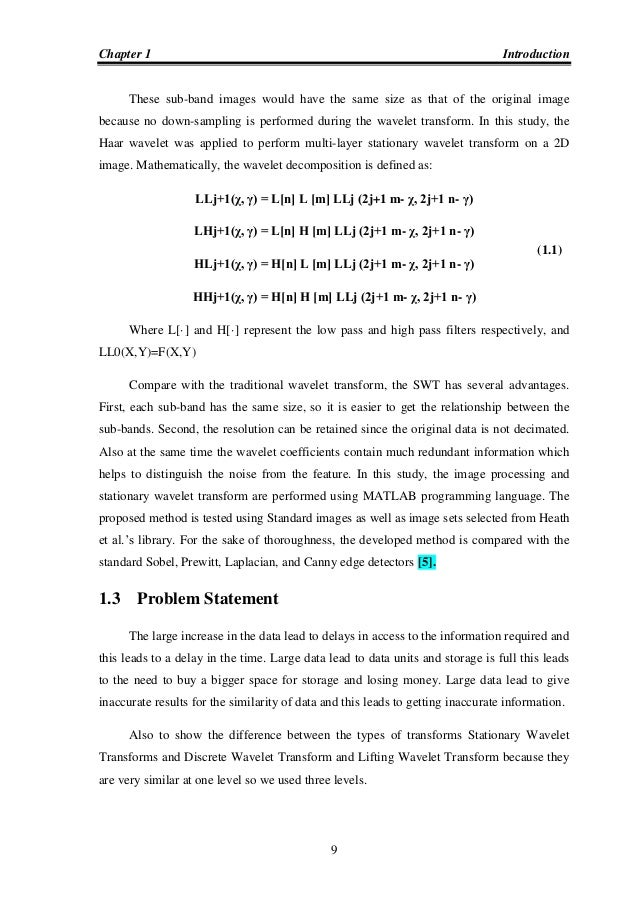 thesis on image compression using wavelet transform In december 2003 we decided to write a master thesis on use of wavelets in  video  high compression ratio when using dct for image and video transform .