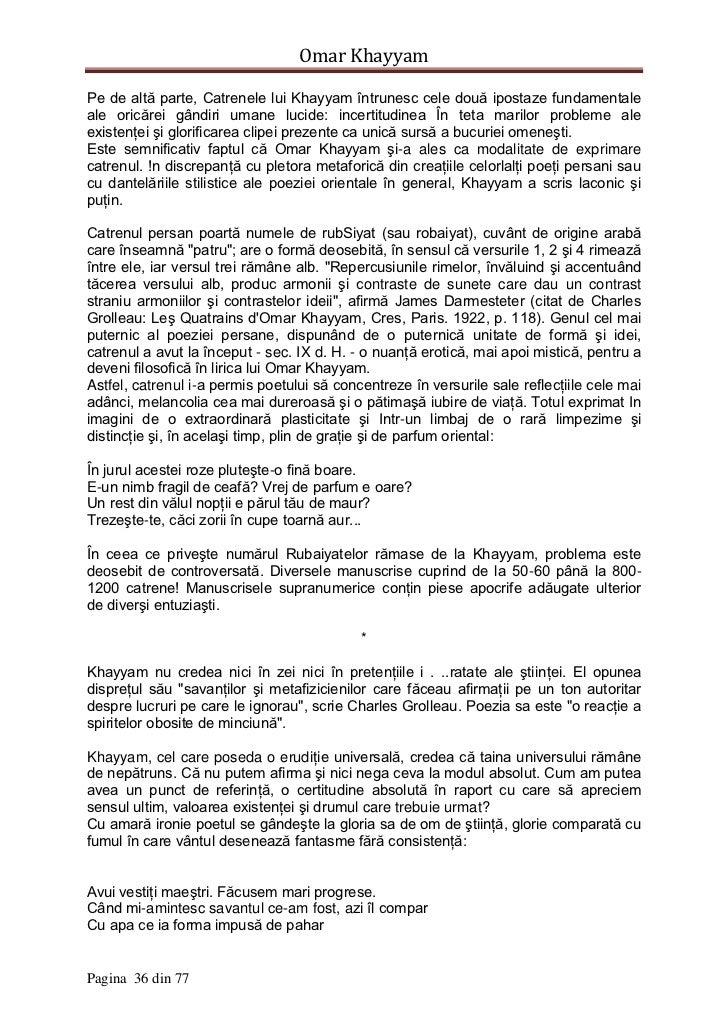 Pagina 35 Din 77 36 Omar KhayyamPe De
