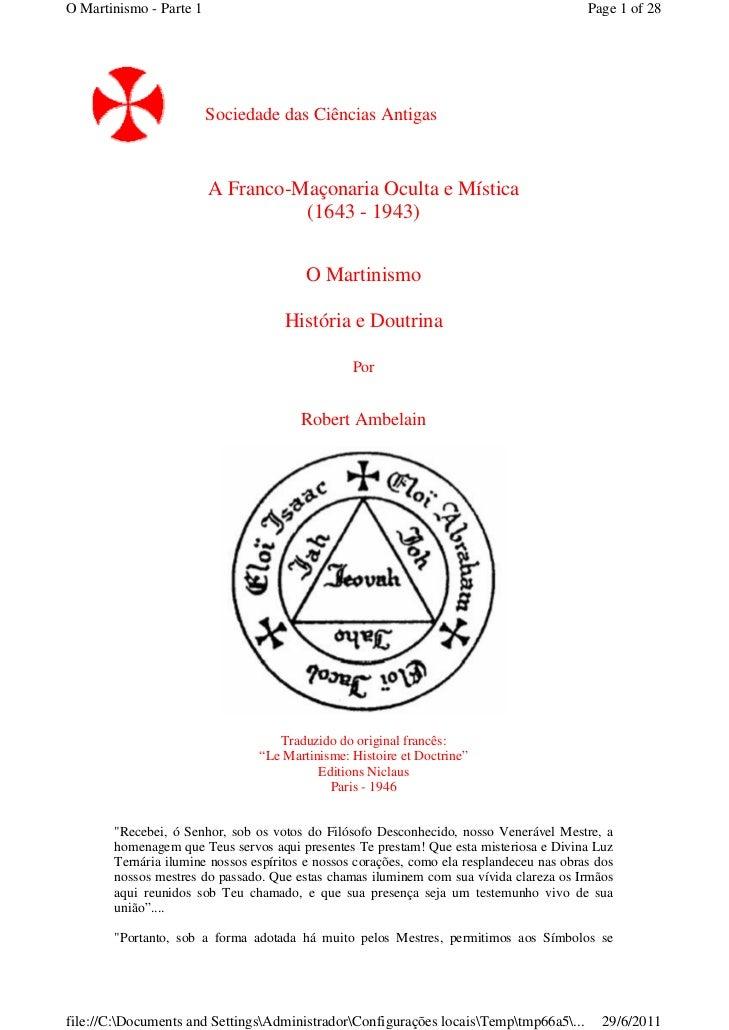 O Martinismo - Parte 1                                                                    Page 1 of 28                    ...
