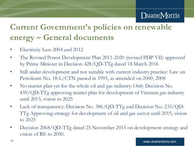renewable energy master plan in vietnam Vietnam energy resources wind power mean renewable energy development with the target of reaching 45% of master plan for power development 26.