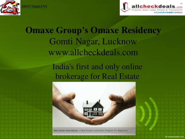 09555666555 Omaxe Group's Omaxe Residency     Gomti Nagar, Lucknow     www.allcheckdeals.com              Indias first and...