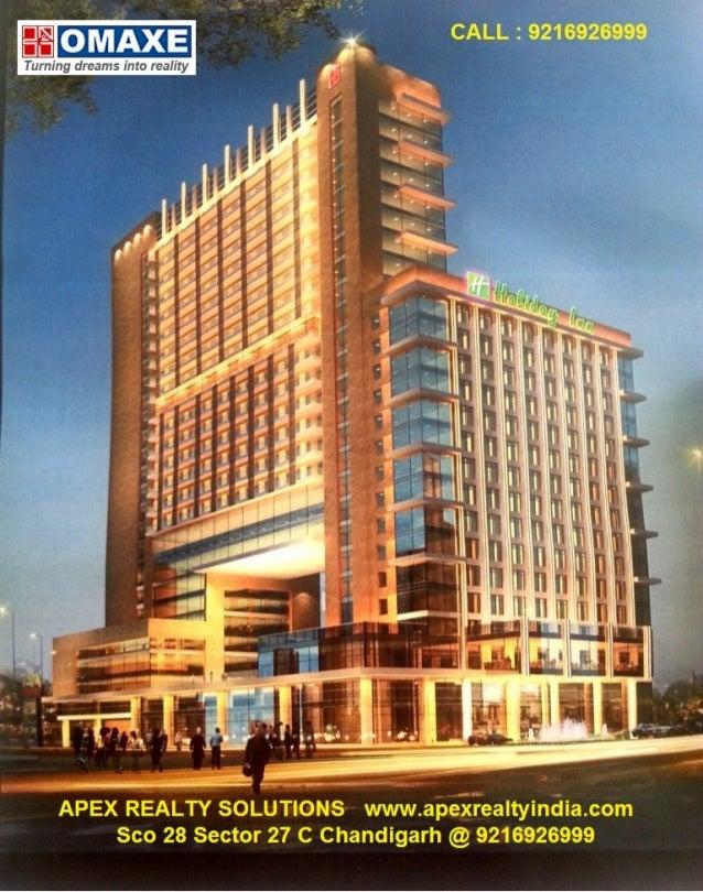 Omaxe Service apartment Mullanpur Just in 32lacs @12% assured return @ 9216926999