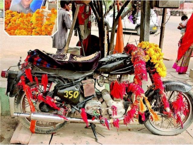 Om banna - The bullet moterbike god of India