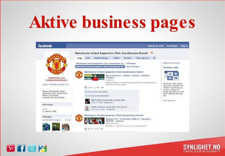 Aktive business pages