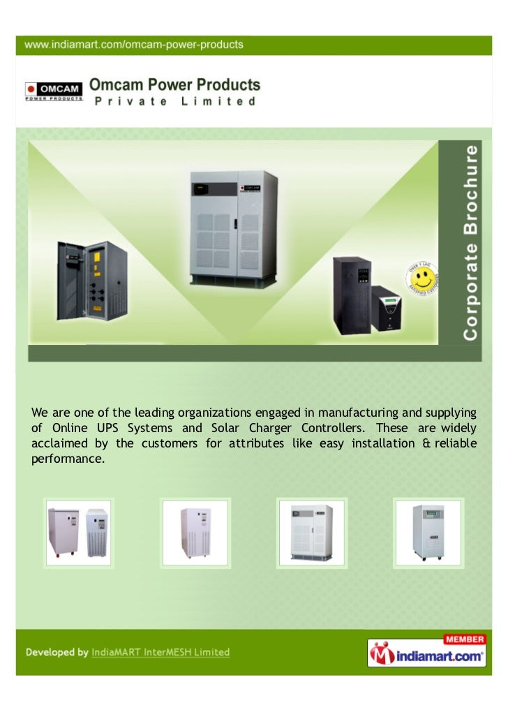 We are one of the leading organizations engaged in manufacturing and supplyingof Online UPS Systems and Solar Charger Cont...