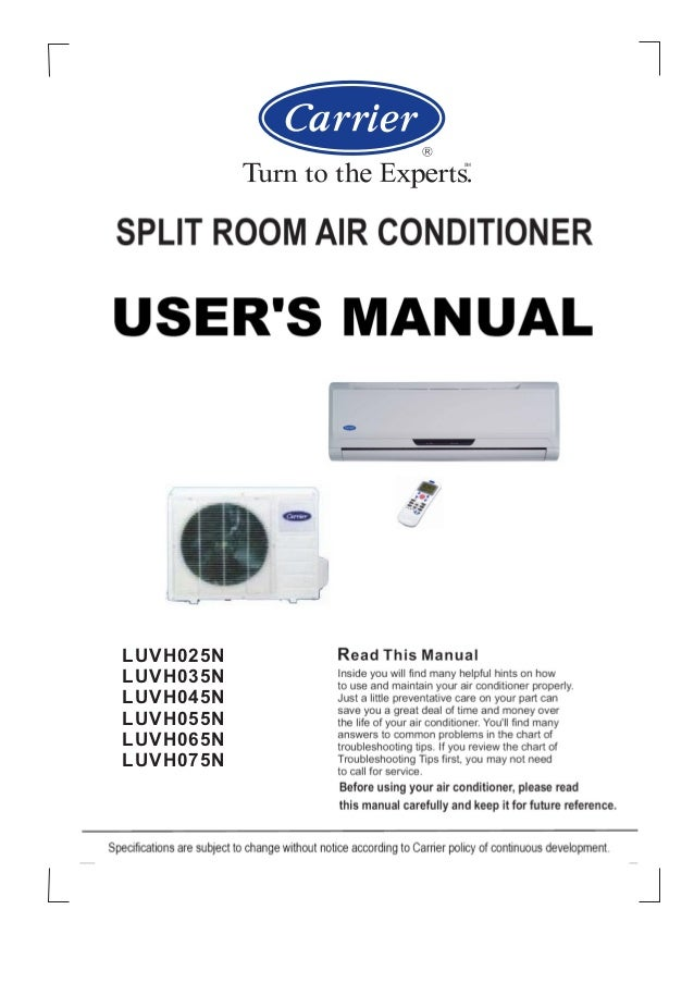 carrier split room air conditioner rh slideshare net carrier puron air conditioner service manual carrier air conditioner owner's manual