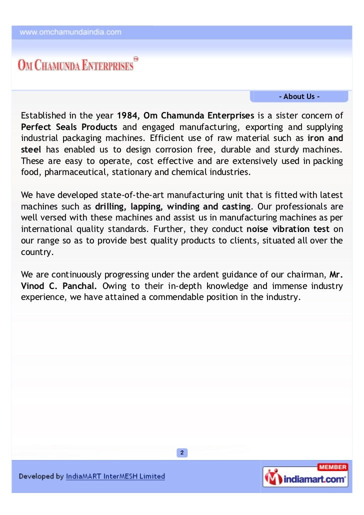 Om Chamunda Enterprises, Mumbai, Packaging & Wrapping Machines Slide 2