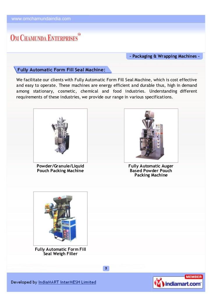 Om Chamunda Enterprises, Mumbai, Packaging & Wrapping Machines Slide 3