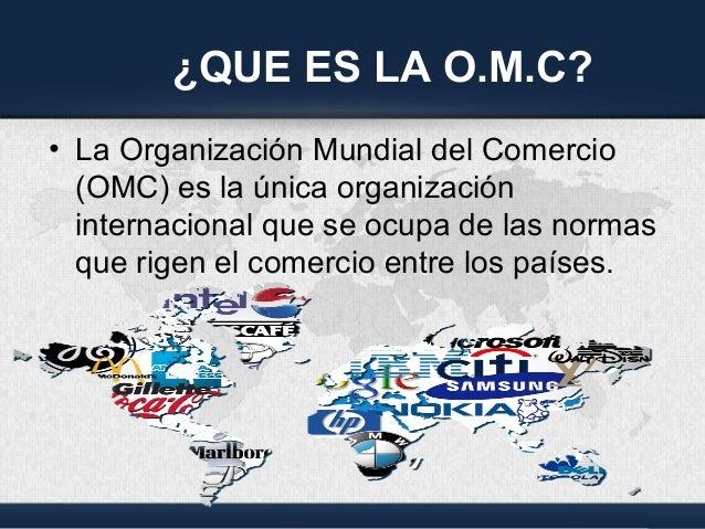 Omc presentation for Que es el comercio interior
