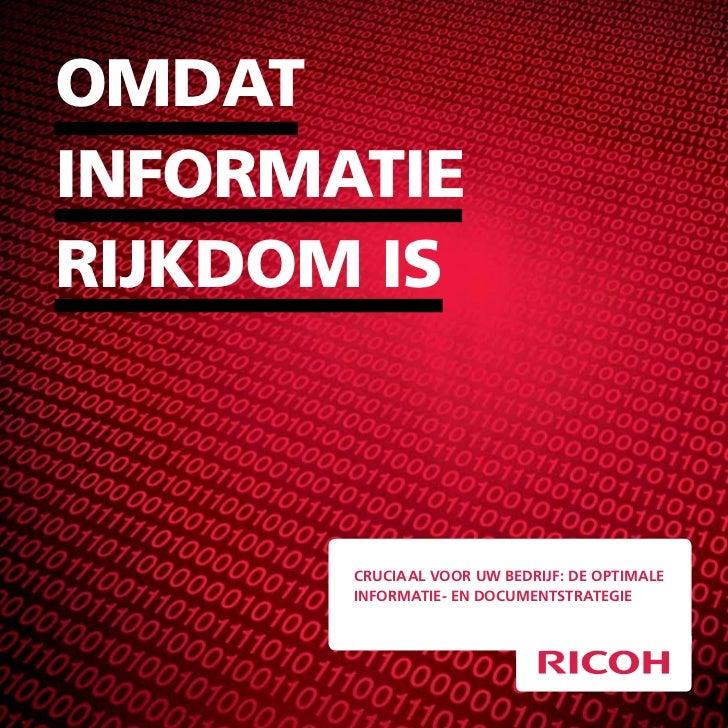 omdatInformatIerIjkdom Is       cruciaal voor uw bedrijf: de optimale       informatie- en documentstrategie