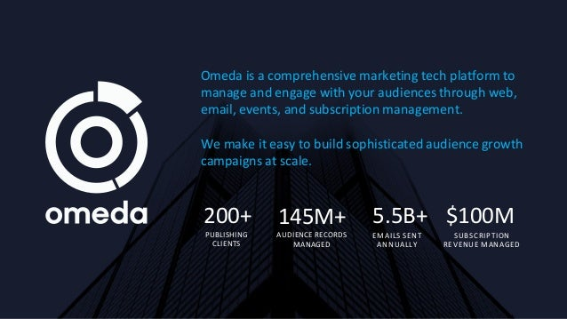 Omeda is a comprehensive marketing tech platform to manage and engage with your audiences through web, email, events, and ...