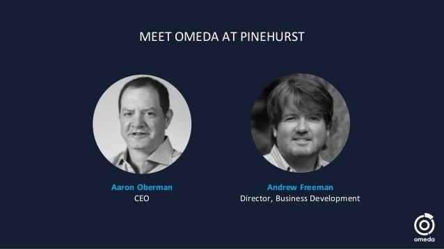 Aaron Oberman CEO Andrew Freeman Director, Business Development MEET OMEDA AT PINEHURST