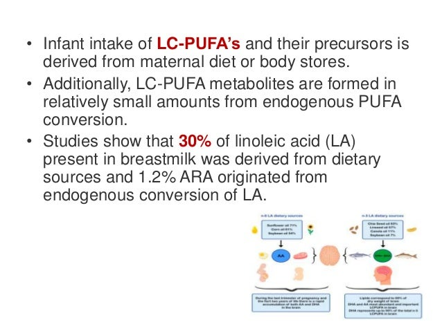 • A daily supply of 200 mg DHA results in a breastmilk content of 0.3%, providing the infant with a total daily supply of ...